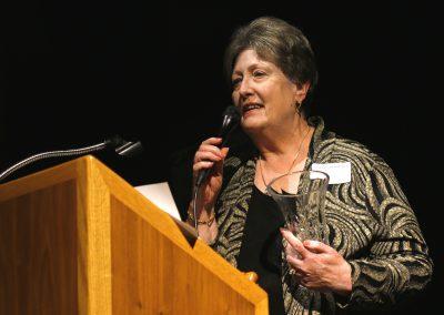 Joan Overland Receiving Award