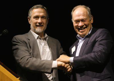 Pastor Ron Moe-Lobeda and Bob Chamberlain